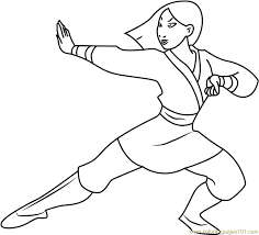 mulan warrior coloring free mulan coloring pages