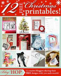 blue christmas gift tag printable blog hop my sister u0027s