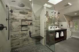 bathroom tower cabinet white with industrial walk in showers