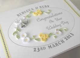 Groom And Groom Wedding Card Quilled Wedding Day Card Congratulations Personalized With