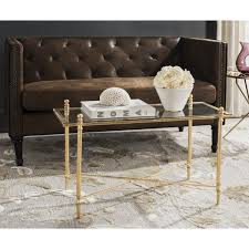 gold leaf coffee table safavieh tait antique gold leaf coffee table free shipping today