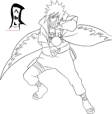 cartoon colouring page colouring pages 5 naruto hokage
