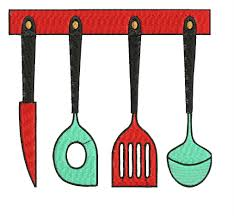kitchen set embroidery design