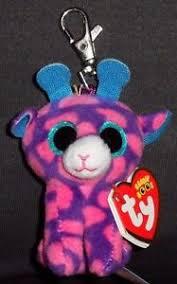 ty beanie boos sky giraffe key clip mint mint