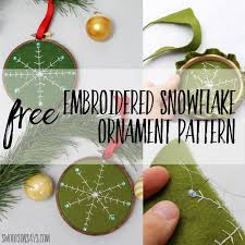 friday spotlight s free diy embroidered snowflake