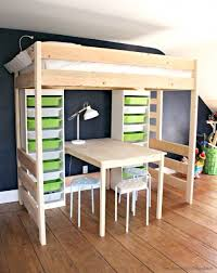 Make Loft Bed With Desk by Diy Loft Bed With Desk And Storage Bunk Bed With Table Underneath