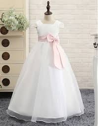 simple communion dresses catholic square neck length communion dress with cap