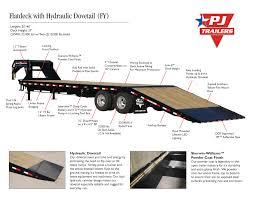 flatdeck with hydraulic dove fy trailer country arkansas