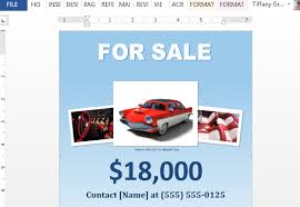 how to make a for sale flyer in word