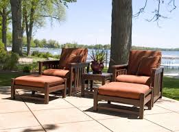 Patio Club Chairs Club Mission Club Chair And Ottoman Set By Polywood Furniture