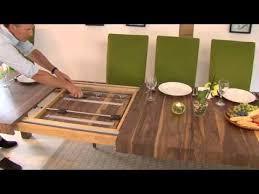 Table Mechanisms Pedestal Rectangular Extending Dining Tables - Extendable kitchen tables