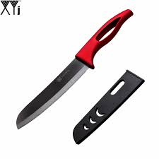 Serrated Kitchen Knives Online Get Cheap New Black U0026amp Red Kitchen Knife Aliexpress Com