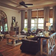 cool farmhouse living room curtains tables french style brown