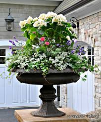 Black Urn Planter by Building A Dream House Front Porch Container Gardens Urn