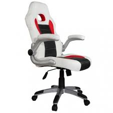 fauteuil baquet bureau de bureau sport racing blanc noir