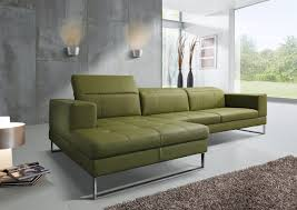 canap cuir vert canape sr andy cuir vert olive angle chaise longue design koedijk