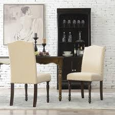 belleze set of 2 classic parson dining living room chair padded