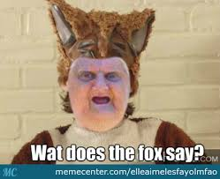 Memes Wat - wat does the fox say by elleaimelesfayolmfao meme center