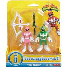 imaginext power rangers green ranger u0026 pink ranger walmart com