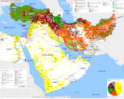 Map Quiz Middle East by Detailed Language Map Of The Middle East Maps Pinterest