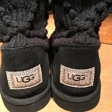 s sweater boots size 12 50 ugg shoes ugg black sweater boot s n 5879 size 9 from