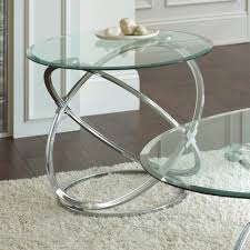 coffee table steve silver orion 3 piece glass top coffee table set