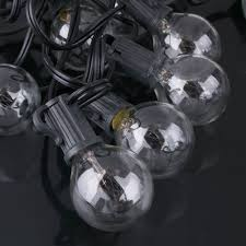 outdoor globe patio 25foot string lights set of 25 g40 clear