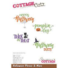 cottage cutz die halloween phrase u0026 more