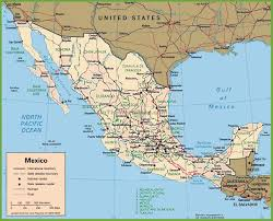 Queretaro Mexico Map by Mexico Political Map