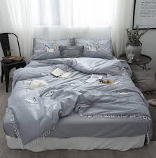 grey duvet sets promotion shop for promotional grey duvet sets on