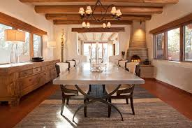 Mediterranean Dining Room Furniture Industrial Table Legs Dining Room Southwestern With Beige Wall