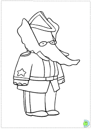 babar coloring dinokids org