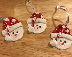 snowman ornaments snowman decor