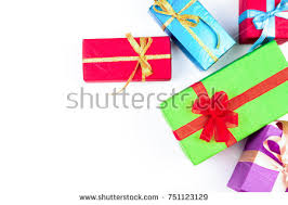 wrapped gift boxes human holding gift boxes on stock vector 731583694