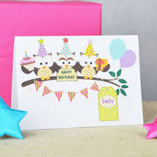 handmade owl birthday cards