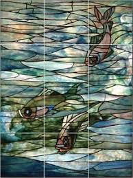 Ceramic Tile Mural Backsplash by Ceramic Tile Mural Backsplash 18 X 24 Louis Tiffany Stain Glass