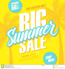 big summer sale this weekend special offer banner with