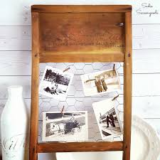 remodelaholic 9 cool wood projects november link party repurposed vintage washboard as rustic farmhouse photo frame decor