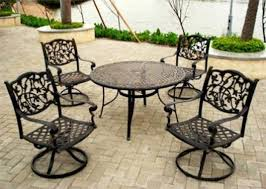 Black Metal Chairs Outdoor Furniture Black Wrought Iron Outdoor Furniture With Wrought Iron