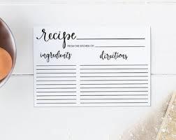 bridal recipe card etsy