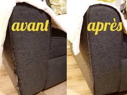 renovation cuir canapé diy réparation facile d un accoudoir de canapé en tissu