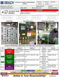 lock out tag out procedures template 2017 world of letter u0026 format