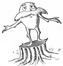 the lorax is sad he cannot protect the tree coloring pages the