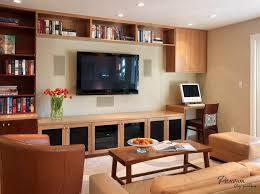 Living Room Computer | little space at the corner of a small living room interior for a