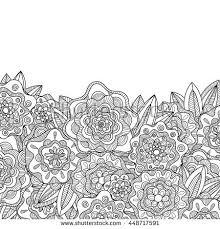Flowers Designs For Drawing Hand Drawn Flower Design Black Ink Stock Illustration 243908491