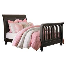 Convertible Sleigh Bed Crib by 4 In 1 Convertible Baby Crib Oak Finish
