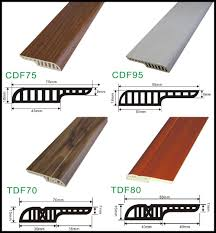 china pvc skirting board with 18mm gap for laminate flooring