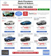 toyota lease phone number new toyota specials in auburn ma