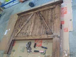 diy barn door headboard shanty 2 chic