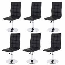 siege reglable en hauteur lot de 6 chaises de salle à manger hauteur réglable en similicuir